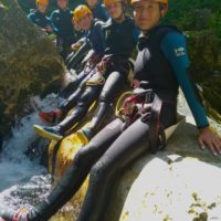 canyoning Isère pause au soleil